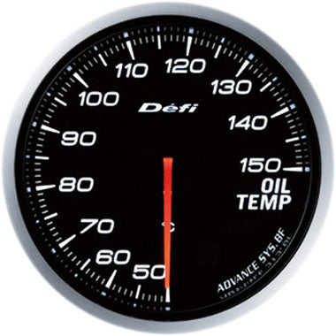 Defi White Advance BF Oil Temperature Gauge - 60mm - 50-150C - RZCrewEurope