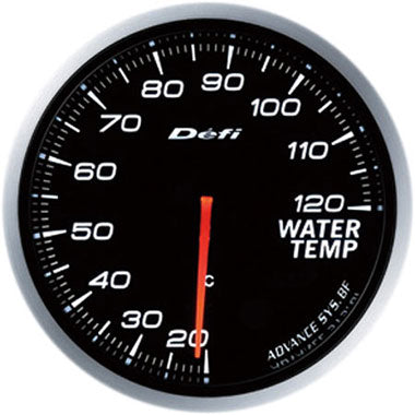 Defi White Advance BF Water Temperature Gauge - 60mm - 20-120C - RZCrewEurope