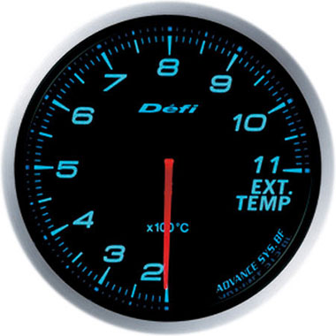 Defi Blue Advance BF Exhaust Gas Temperature Gauge - 60mm - 200-1100C - RZCrewEurope