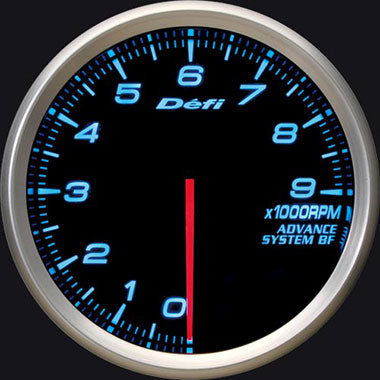 Defi Blue Advance BF RPM Gauge - 80mm - 9000 Rpm - RZCrewEurope