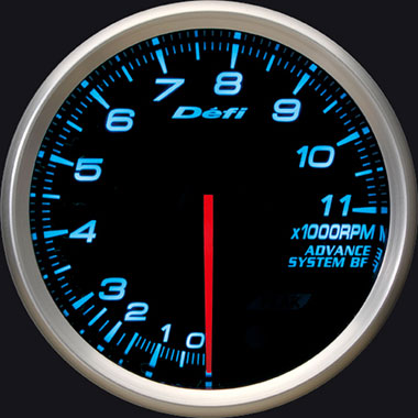 Defi Blue Advance BF RPM Gauge - 80mm - 11000 Rpm - RZCrewEurope
