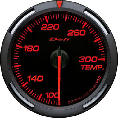 Defi Amber Racer Oil Temperature,Water Temperature Gauge - 60mm - 100-300F - RZCrewEurope