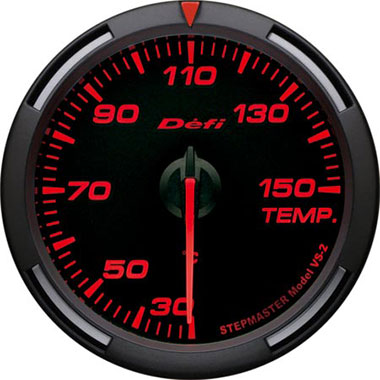 Defi Amber Racer Oil Temperature,Water Temperature Gauge - 60mm - 30-150C - RZCrewEurope