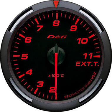 Defi Amber Racer Exhaust Gas Temperature Gauge - 60mm - 200-1,100C - RZCrewEurope