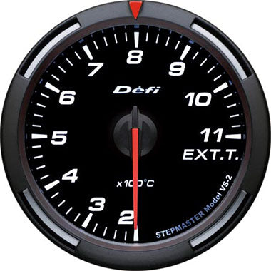 Defi White Racer Exhaust Gas Temperature Gauge - 60mm - 200-1,100C - RZCrewEurope