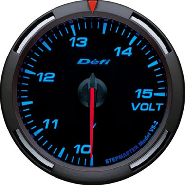 Defi Blue Racer Voltage Gauge - 60mm - 10-15V - RZCrewEurope