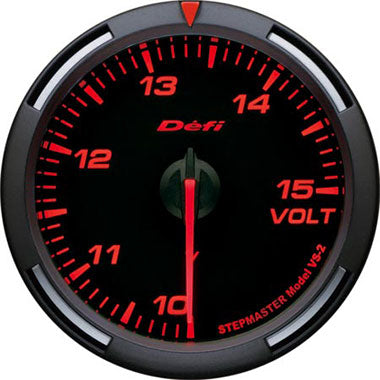 Defi Amber Racer Voltage Gauge - 60mm - 10-15V - RZCrewEurope