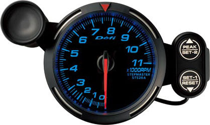 Defi Blue Racer RPM Gauge - 80mm - 11000 Rpm - RZCrewEurope