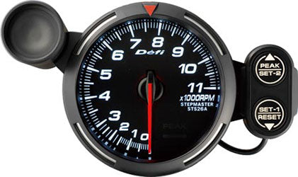 Defi White Racer RPM Gauge - 80mm - 11000 Rpm - RZCrewEurope