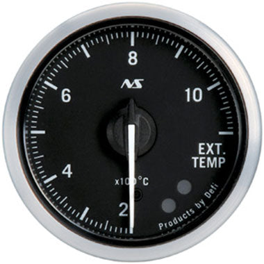 Defi Green,Amber Advance RS Exhaust Gas Temperature Gauge - 52mm - 200-1100C - RZCrewEurope
