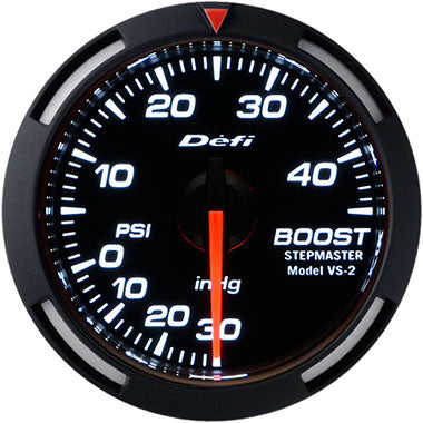 Defi White Racer Boost Gauge - 52mm - 45 Psi - RZCrewEurope