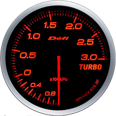 Defi Amber Advance BF Boost Gauge - 60mm - 3 Bar - RZCrewEurope