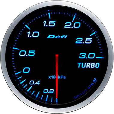 Defi Blue Advance BF Boost Gauge - 60mm - 3 Bar - RZCrewEurope