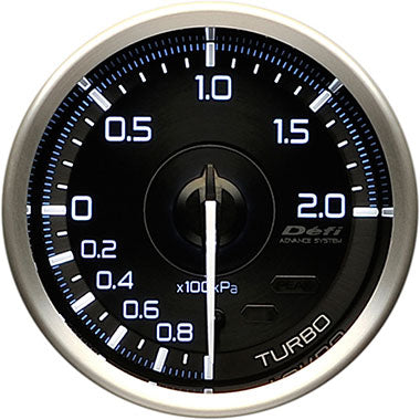 Defi White,Blue Advance A1 Boost Gauge - 60mm - 2 Bar - RZCrewEurope