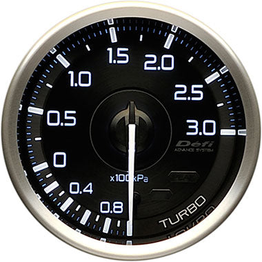 Defi White,Blue Advance A1 Boost Gauge - 60mm - 3 Bar - RZCrewEurope