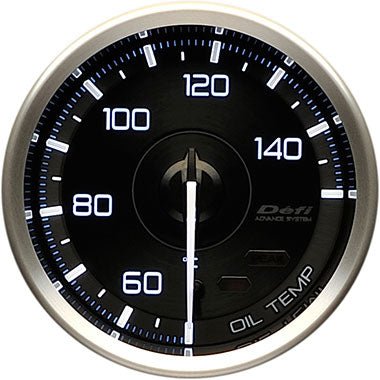 Defi White,Blue Advance A1 Oil Temperature Gauge - 60mm - 50-150C - RZCrewEurope