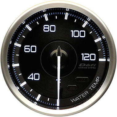 Defi White,Blue Advance A1 Water Temperature Gauge - 60mm - 20-120C - RZCrewEurope