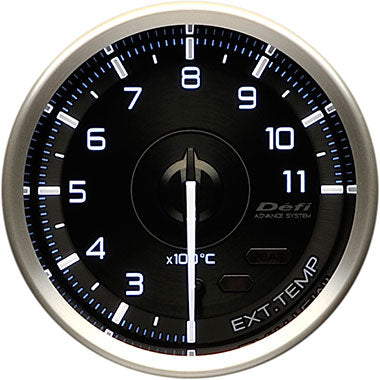 Defi White,Blue Advance A1 Exhaust Gas Temperature Gauge - 60mm - 200-1100C - RZCrewEurope