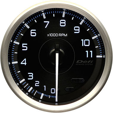 Defi White,Blue Advance A1 RPM Gauge - 80mm - 11000 Rpm - RZCrewEurope