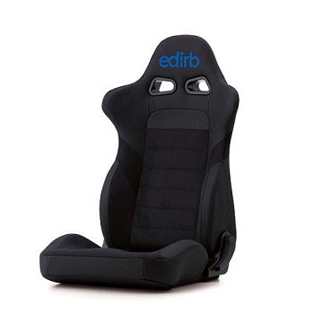 Edirb 032 Ultra Suede Blue Stitching (Seat Heater) Reclinable Seat - Frp - Black-E35PCA - Rzcrewgarage