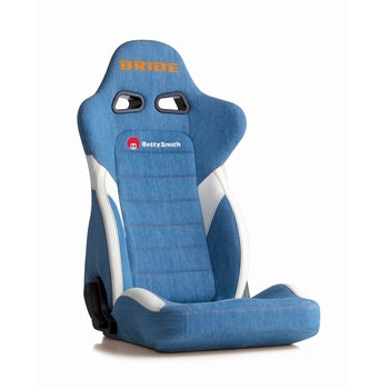 Bride Euroster II Betty Smith (Seat Heater) Reclinable Seat - Frp - Blue-E35S2N - Rzcrewgarage