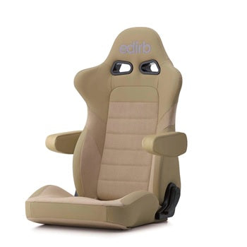 Edirb 054 Ultra Suede Reclinable Seat - Frp - Beige-E54QNM - Rzcrewgarage