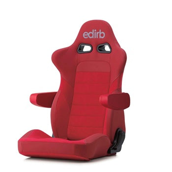 Edirb 054 Ultra Suede (Seat Heater) Reclinable Seat - Frp - Red-E57RNB - Rzcrewgarage