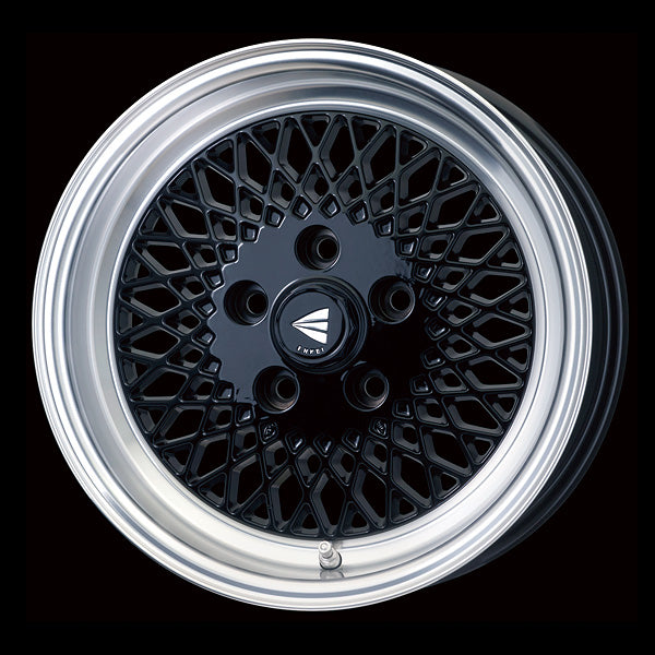 Enkei Japan Enkei 92 - 15x7J - 4x100 - ET: 38 (Black with Machined Lip) - JDM-465-570-4938BML