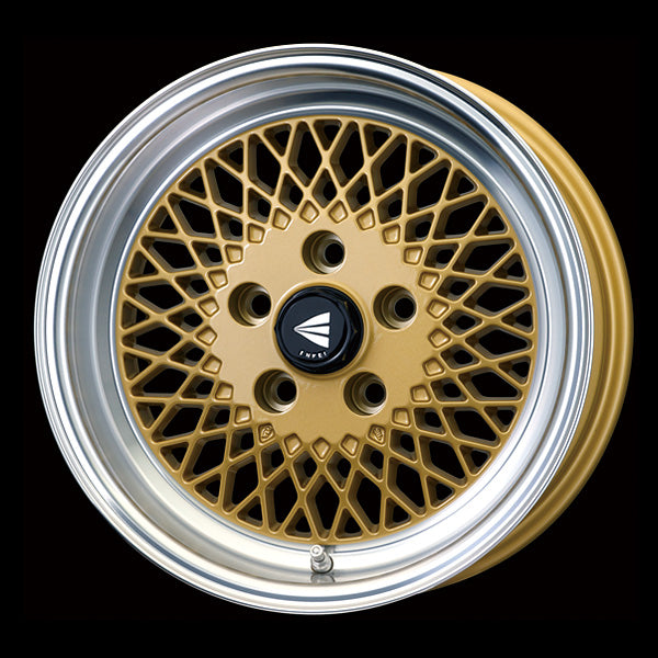 Enkei Japan Enkei 92 - 15x5J - 4x100 - ET: 45 (Gold with Machined Lip) - JDM-465-550-4945GML