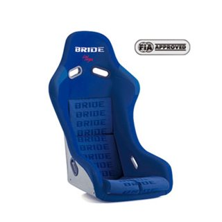 Bride Vios III Fixed Bucket Seat - Super Aramid - Blue-F42JZR - Rzcrewgarage