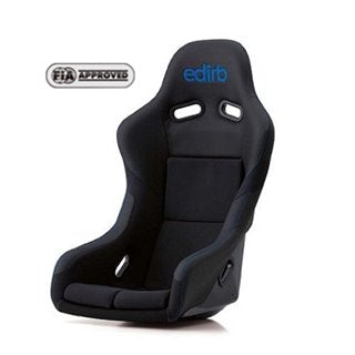 Edirb 042 Blue Stitching Fixed Bucket Seat - Frp - Black-F42PCF - Rzcrewgarage