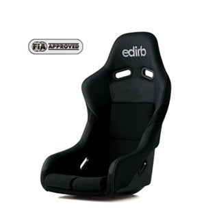 Edirb 042 Silver Stitching Fixed Bucket Seat - Frp - Black-F42PNF - Rzcrewgarage