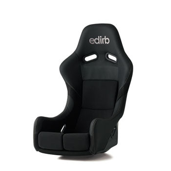 Edirb 061 Silver Stitching Fixed Bucket Seat - Frp - Black-F61PNF - Rzcrewgarage