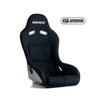Bride Zeta III type XL Fixed Bucket Seat - Frp - Black-F91AMF - Rzcrewgarage