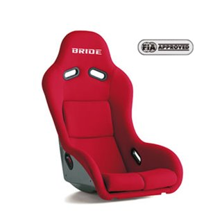 Bride Zeta III type XL Fixed Bucket Seat - Frp - Red-F91BMF - Rzcrewgarage