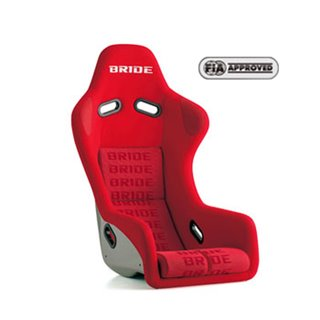 Bride Zeta III type L Fixed Bucket Seat - Frp - Red-FL1IMF - Rzcrewgarage