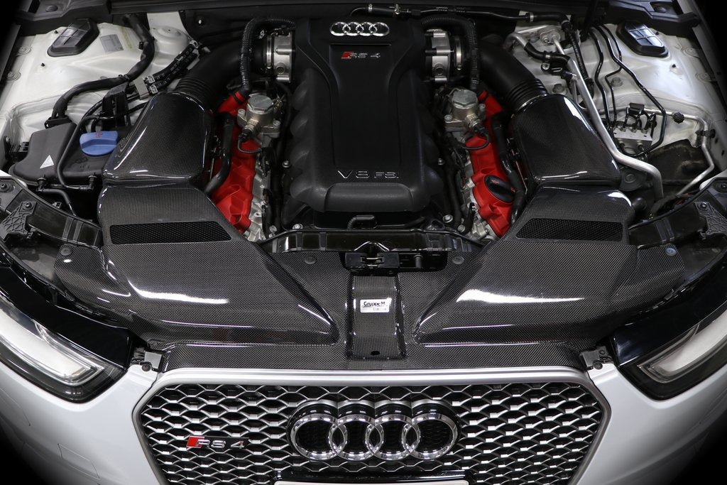 Increase Horse Power and torque with this GruppeM Ram Air Intake System - Audi - RS4 quattro B8(RS4)('12). The Best JDM Parts in Europe are on RzcrewEurope.com!