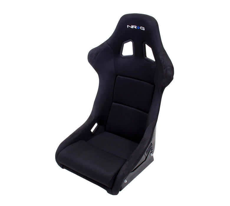 NRG FRP 310 (Medium) Fixed Bucket Seat - Black Fabric/Vinyl-FRP-310 - Rzcrewgarage