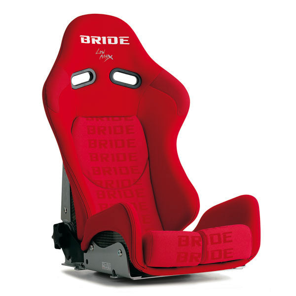 Bride Gias II Low Cushion Reclinable Seat - Carbon Aramid - Red-G32IMR - Rzcrewgarage