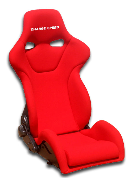 Charge Speed Genoa-R Reclinable Seat - Carbon - Red-GRC-02 - Rzcrewgarage