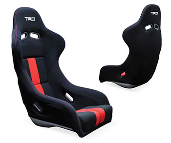 Trd Driver Fixed Bucket Seat - Frp - Black,Red-MS330-18002 - Rzcrewgarage