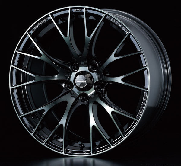 WedsSport SA-20R - 16x7J - 5x114.3 - ET: 42/52 (Worth Black Clear) - SA-20R-1675114342-WBC