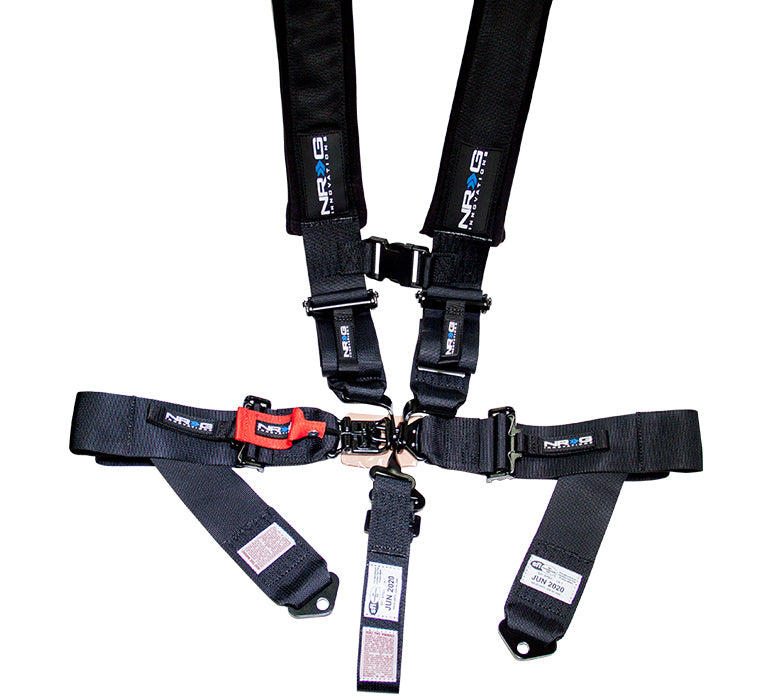 NRG 5 Point Latch Link Seat Belt Bolt On Harness - SFI Approved - Black /  Blue / Camo / Camo Grey / Red