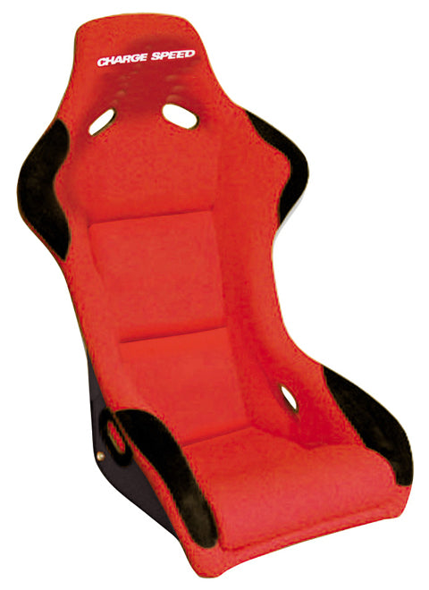 Charge Speed Sport Serie Fixed Bucket Seat - Carbon - Red-SC-02 - Rzcrewgarage