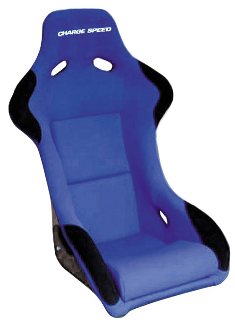 Charge Speed Sport Serie Fixed Bucket Seat - Carbon - Blue-SC-03 - Rzcrewgarage