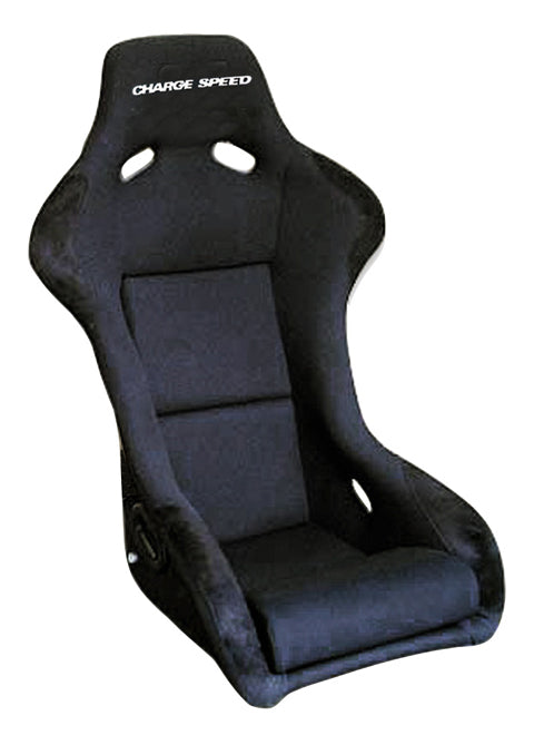 Charge Speed Sport Serie Fixed Bucket Seat - Frp - Black-SF-01 - Rzcrewgarage