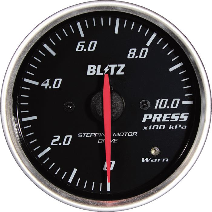 Blitz White Oil Pressure Racing Meter SD - 52mm - 10 Bar - RZCrewEurope