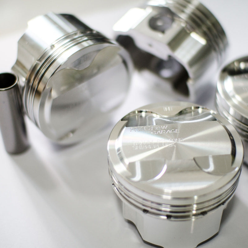 Rzcrew Garage - Forged Pistons 74mm - 8:5 to 15:0 Compression Ratio - Honda - L15B7 - RZ-FP-1NZ-FE - 8:5.1-75