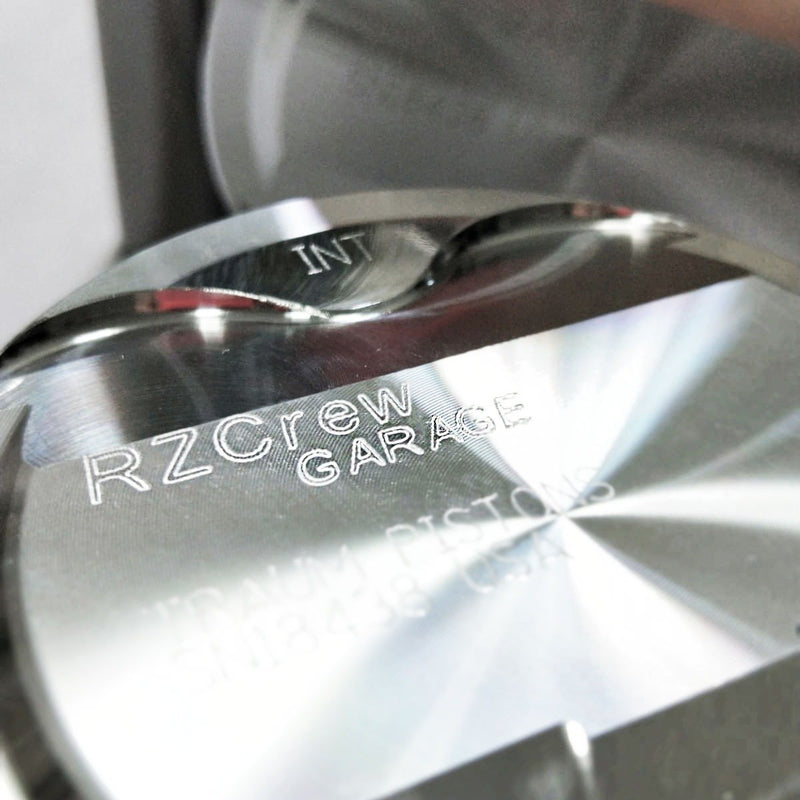 Rzcrew Garage - Forged Pistons 73mm - 8:5 to 15:0 Compression Ratio - Honda - L15B1 - RZ-FP-1NZ-FE - 8:5.1-75