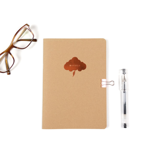 Copper Cloud A5 Notebook - Kraft